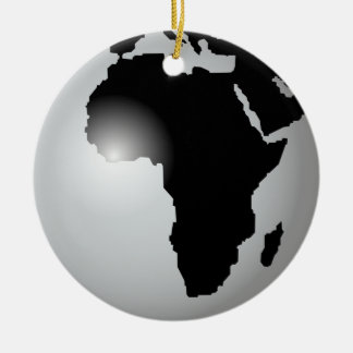 África Adorno Navideño Redondo De Cerámica