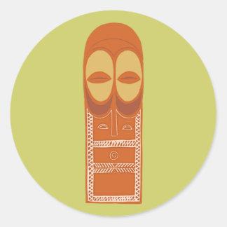 Africa Africa mask MASK Bembe Classic Round Sticker