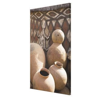 África África occidental Ghana Sirigu 2 Handcr Lienzo Envuelto Para Galerías