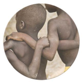 África, África occidental, Ghana, Yendi. Tiro del  Plato De Comida