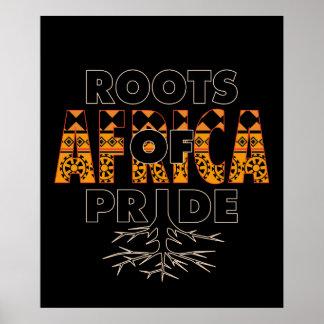 Africa African Black Pride Roots Of Pride Proud Poster