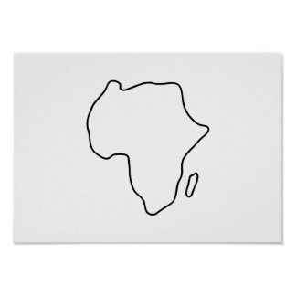 Africa African continent map Poster
