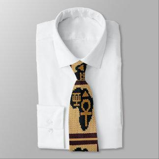 Africa African Symbols Crochet All Over Print Tie