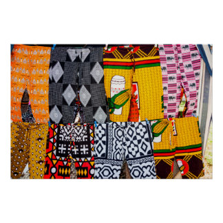 Africa, Angola, Benguela. Brightly Colored Pants Poster