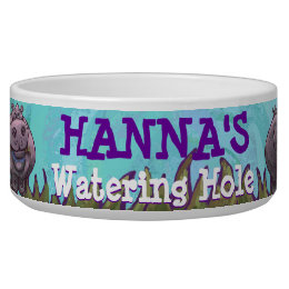 Africa Animals Watering Hole Dog Bowl