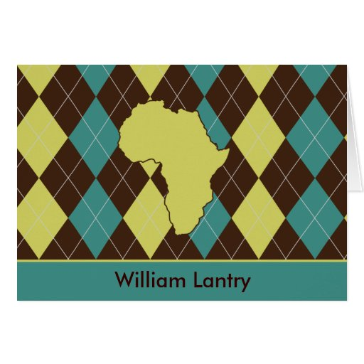 Africa Argyle Stationery Note Card