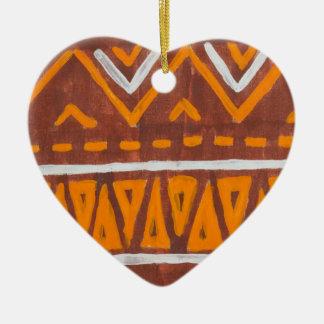 Africa art ceramic ornament