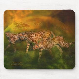 África - arte Mousepad del mundo del guepardo Tapete De Ratones