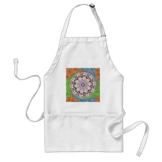 Africa Asia traditional edgy pattern Adult Apron