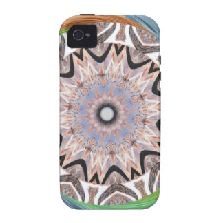 Africa Asia traditional edgy pattern Case-Mate iPhone 4 Covers