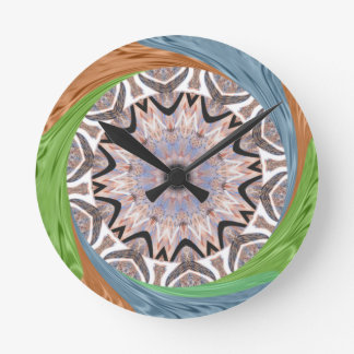 Africa Asia traditional edgy pattern Round Clock