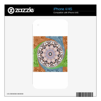 Africa Asia traditional edgy pattern iPhone 4 Decals
