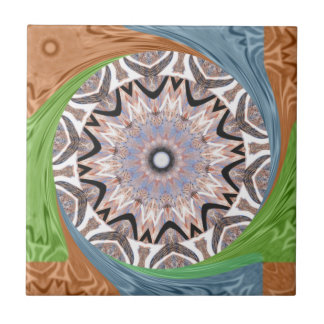 Africa Asia traditional edgy pattern Small Square Tile