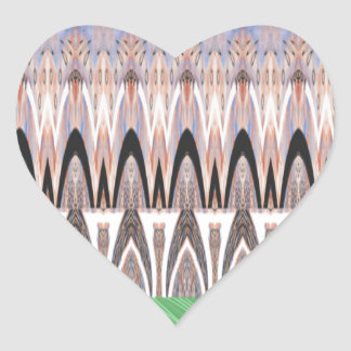Africa Asia traditional pattern Heart Sticker