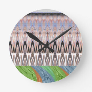 Africa Asia traditional pattern Round Clock
