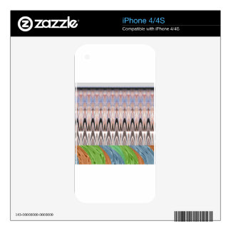 Africa Asia traditional pattern Skins For iPhone 4S
