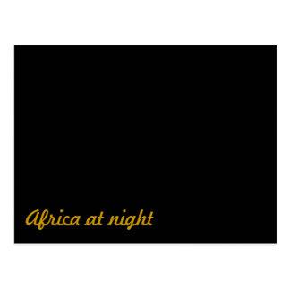 Africa at night postcard