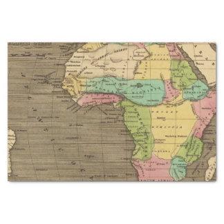 África, atlántica papel de seda pequeño
