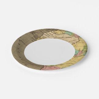 África, atlántica plato de papel de 7 pulgadas