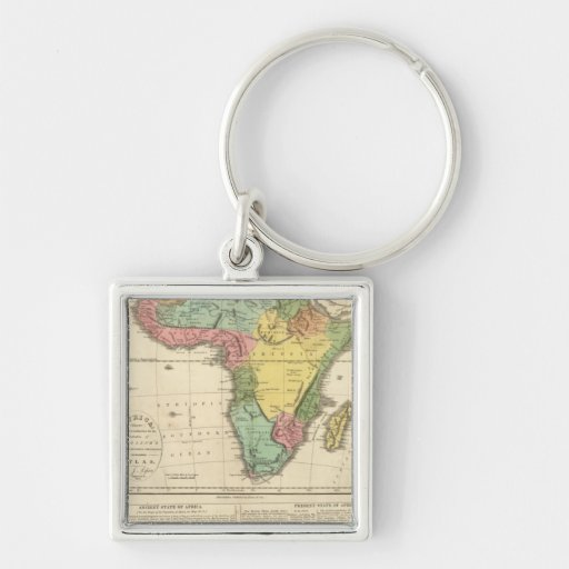 Africa Atlas Map 2 Keychain