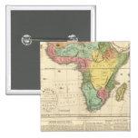 Africa Atlas Map 2 Pinback Button