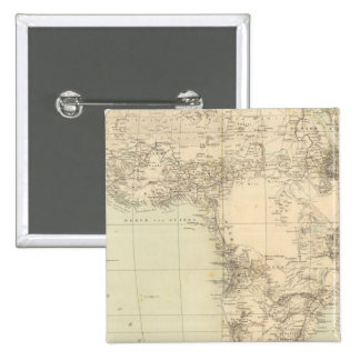 Africa Atlas Map showing colonies 2 Inch Square Button