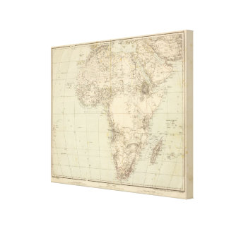 Africa Atlas Map showing colonies Canvas Print