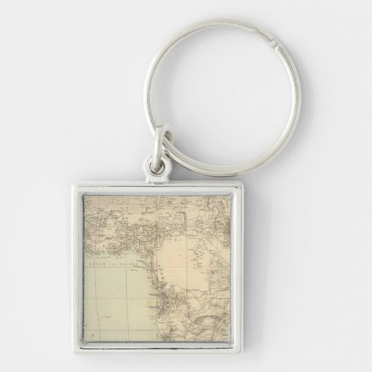 Africa Atlas Map showing colonies Keychain