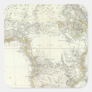 Africa Atlas Map Sticker