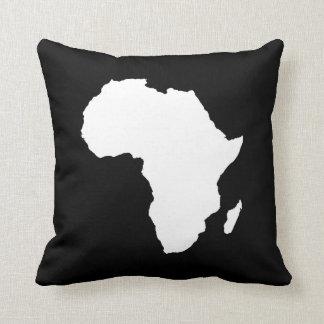 África audaz negra cojines
