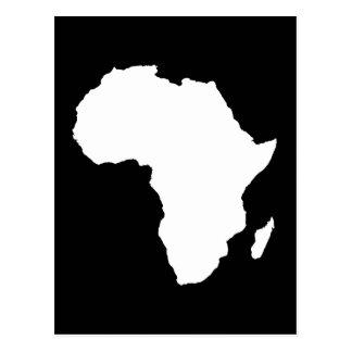 África audaz negra postales
