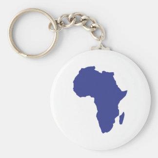 Africa Basic Round Button Keychain