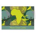 Africa Bird Card