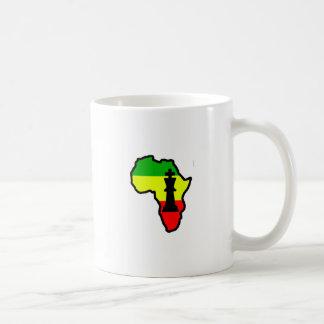Africa Black King Chess Piece Mugs