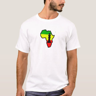 Africa Black King Chess Piece T-Shirt