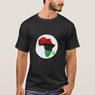 Africa Black Nationalist Topographic Map II T-Shirt