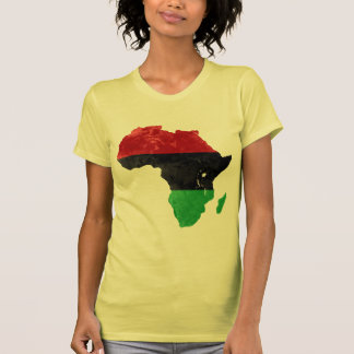 Africa Black Nationalist Topographic Map Shirts
