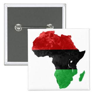 Africa Black Nationalist Topographic Pinback Button
