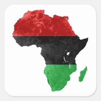 Africa Black Nationalist Topographic Sticker
