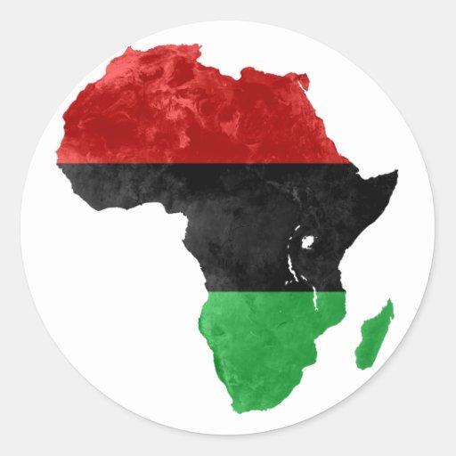 Africa Black Nationalist Topographic Sticker II