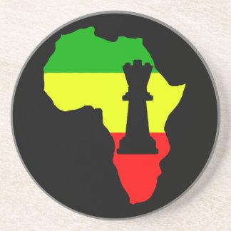 Africa Black Queen Chess Piece Coaster