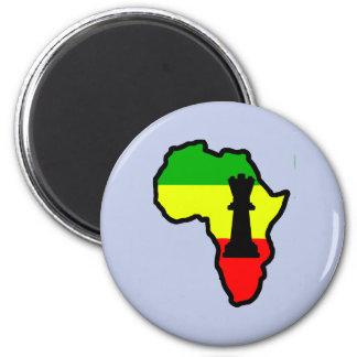Africa Black Queen Chess Piece 2 Inch Round Magnet