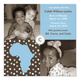 Africa Block: Blue Polkas Card