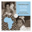 Africa Block: Blue Polkas Personalized Announcements