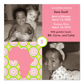 Africa Block: Pink Flora Card