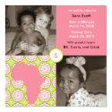 Africa Block: Pink Flora Custom Invite