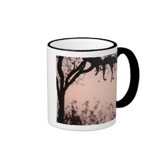 Africa, Botswana, Okavango Delta. Leopard Ringer Coffee Mug