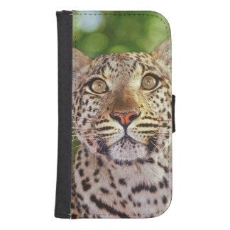 Africa, Botswana, Okvango Delta, wild leopard. Phone Wallet