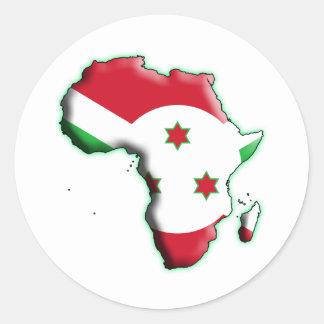 AFRICA: BURUNDI CLASSIC ROUND STICKER
