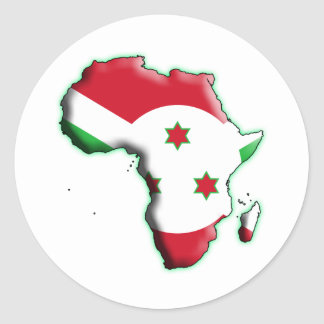 ÁFRICA: BURUNDI PEGATINA REDONDA